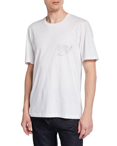 Helmut Lang Men's Laws Graphic Short-Sleeve Jersey T-Shirt