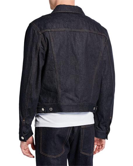Helmut Lang Men's Accelerated Raw Masc Denim Trucker Jacket