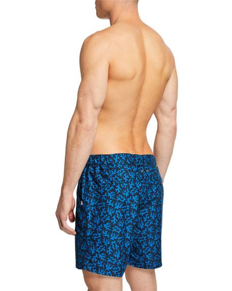 Derek Rose Maui 17 Coral-Print Modern-Fit Swim Trunks
