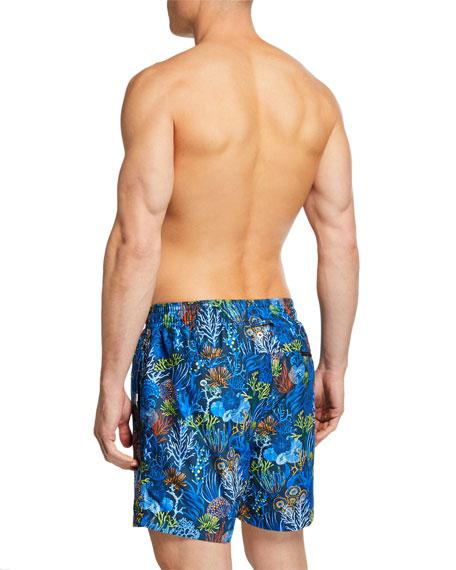 Derek Rose Maui 20 Undersea Print Classic-Fit Swim Trunks