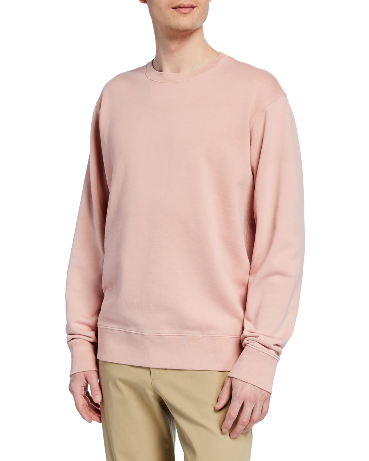 Men's Crewneck Long Sleeve Cotton Sweatshirt by Vince