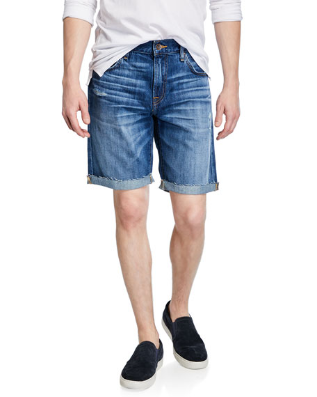 7 For All Mankind Men's Denim Cutoff Shorts
