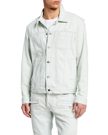 Hudson Men's Donovan Bleached Denim Jacket