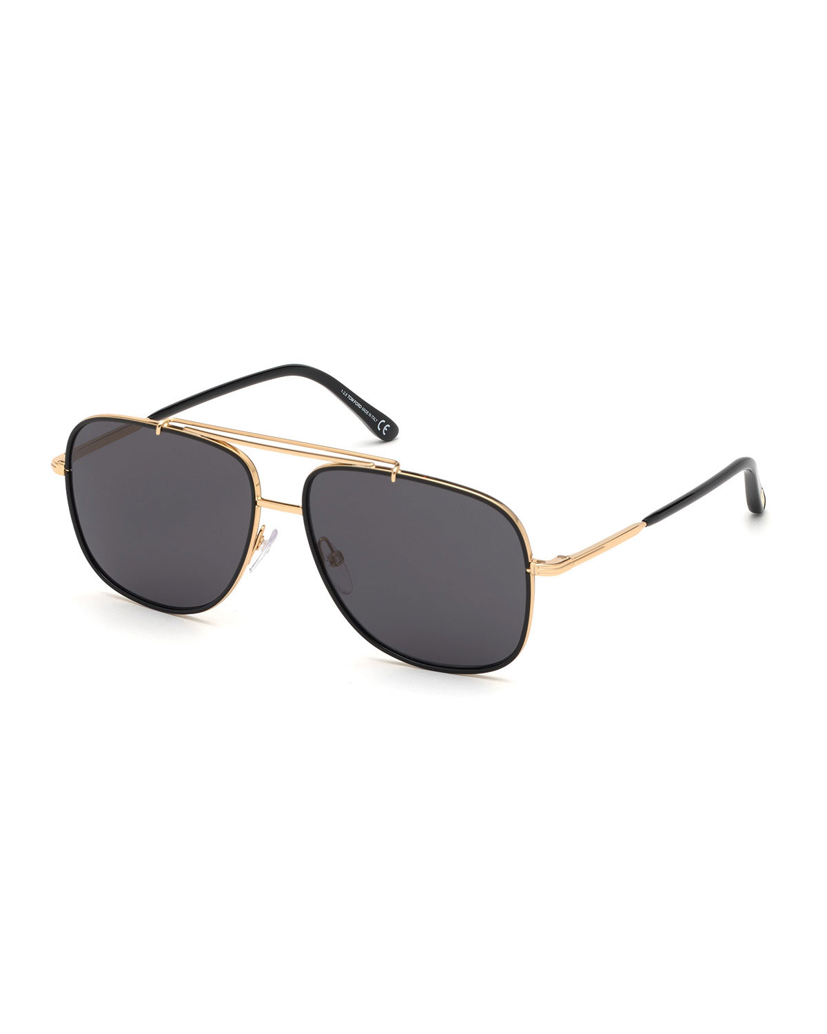 TOM FORD Men's Benton Yellow Golden Aviator Sunglasses