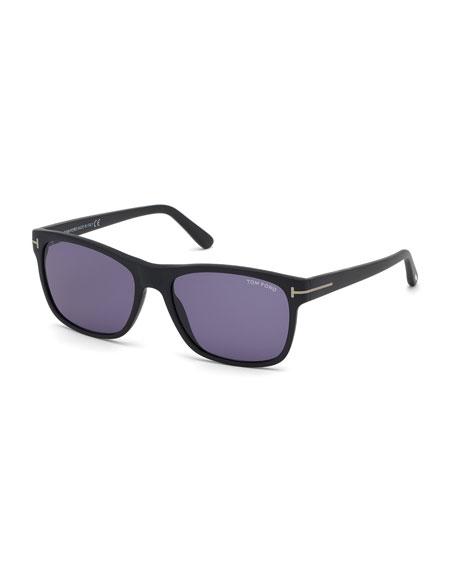 TOM FORD Men's Giulio Square Acetate Sunglasses