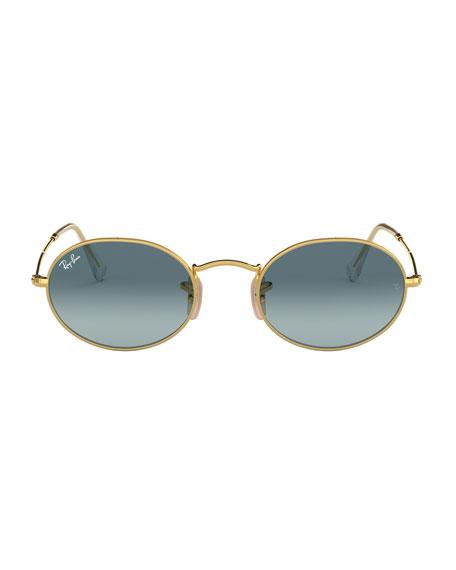 Ray-Ban Men's Gradient Oval Metal Sunglasses