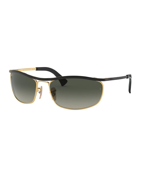 Ray-Ban Men's Olympian Metal Sunglasses with Wraparound Bar - Gradient