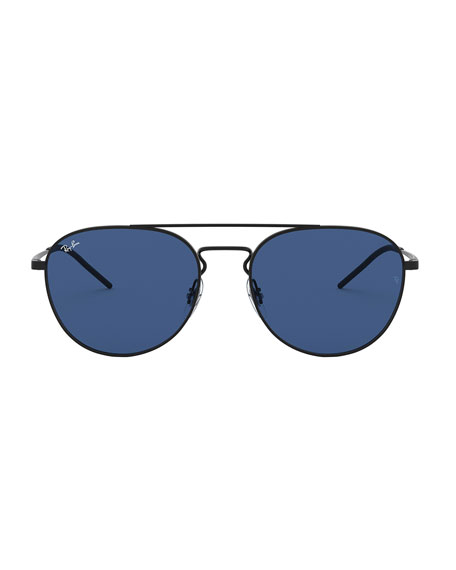 Ray-Ban Men's Solid Metal Aviator Sunglasses