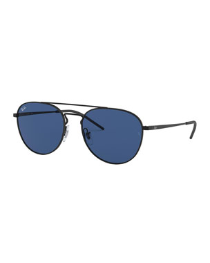 a28362cc14da1 Ray-Ban Men s Solid Metal Aviator Sunglasses