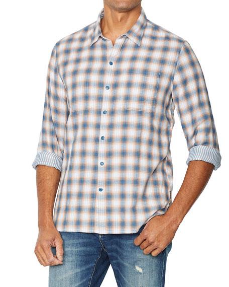 John Varvatos Star USA Men's Neil Reversible Plaid Sport Shirt