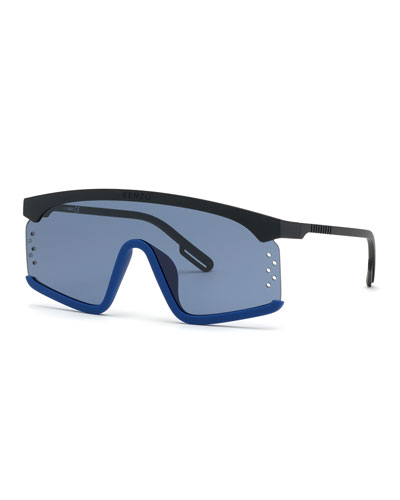 Men's Flat-Top Shield Sunglasses