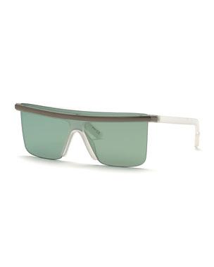 30a19eb1 Kenzo Men's Flat-Top Plastic Sunglasses w/ Metal Trim