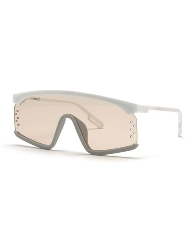 Men's Shield Injected Plastic Sunglasses