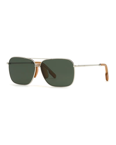 Men's Aviator Metal Sunglasses