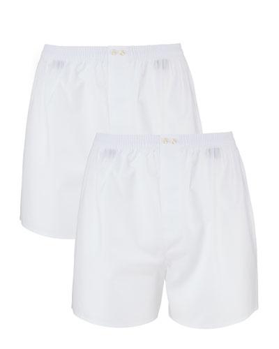 Men's 2-Pack Cotton Boxers, White