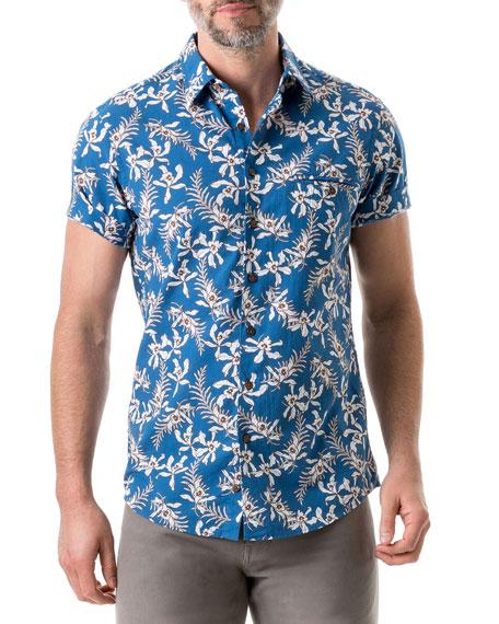 Rodd & Gunn Men's Four Rivers Tropical Floral Shirt