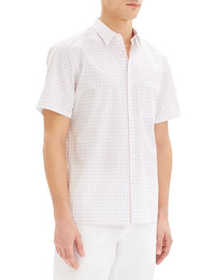 Theory Men's Irving Grid Short-Sleeve Sport Shirt