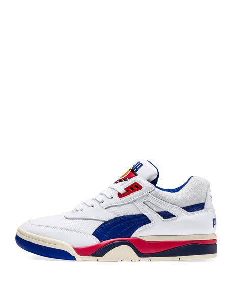 Puma Men's Palace Guard Mid-Top Sneakers, White/Blue