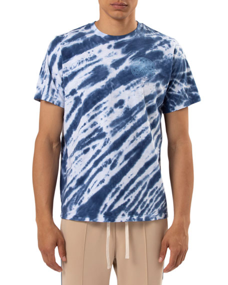 Ovadia & Sons Men's Tie-Dye Reverse Logo T-Shirt