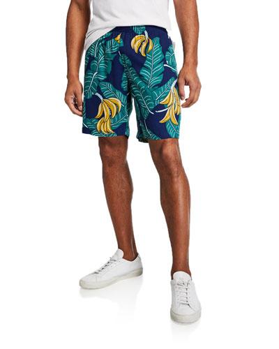 Men's Monkey Forest Vintage-Print Shorts