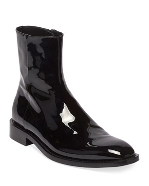 63d7e63307 Balenciaga Men s Rim Patent Leather Chelsea Boots