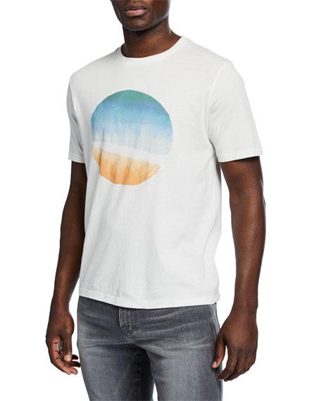 FRAME Men's Sunset Graphic Short-Sleeve Cotton Tee