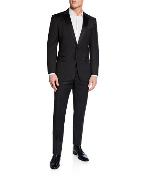 BOSS Men's Halven Gentry Satin Lapel Wool Two-Piece Tuxedo