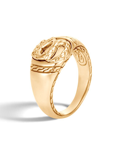 Men's Legends Naga 18K Gold Signet Ring
