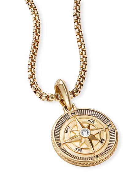David Yurman Men's Maritime Compass Amulet with Diamond Center