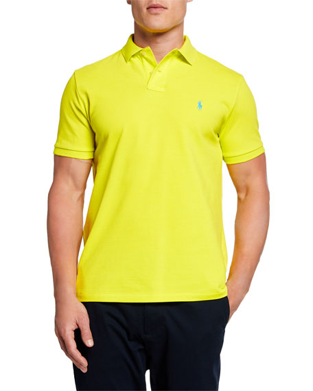 Ralph Lauren Men's Logo-Embroidered Polo Shirt, Yellow