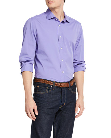 Ralph Lauren Purple Label Men's Solid Cotton Sport Shirt