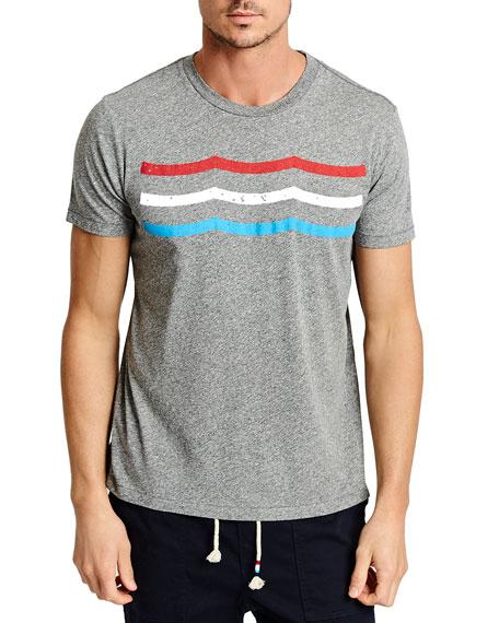 Sol Angeles Men's Flag Waves Crewneck T-Shirt