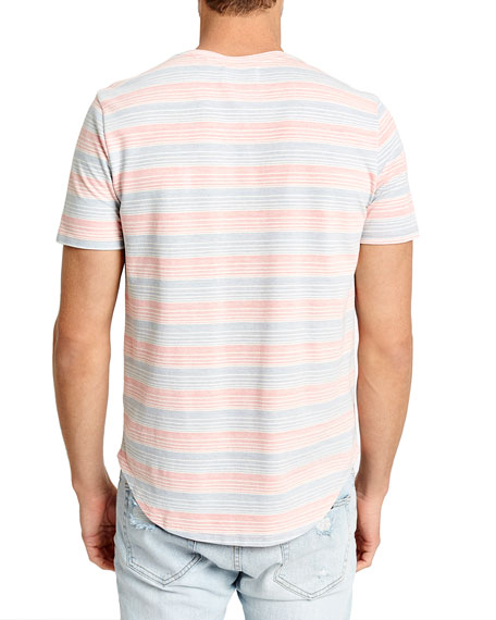Sol Angeles Men's Twill Stripe Crewneck T-Shirt