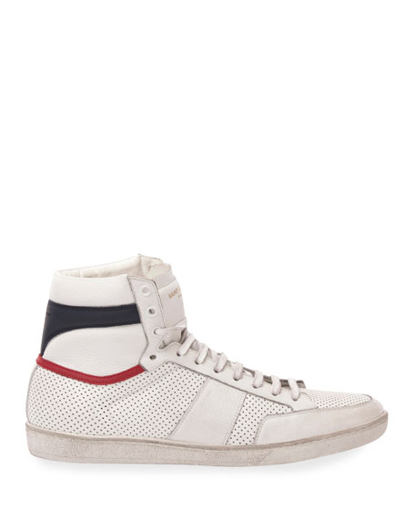 Image 3 of 3: Men's Leather High-Top Sneaker