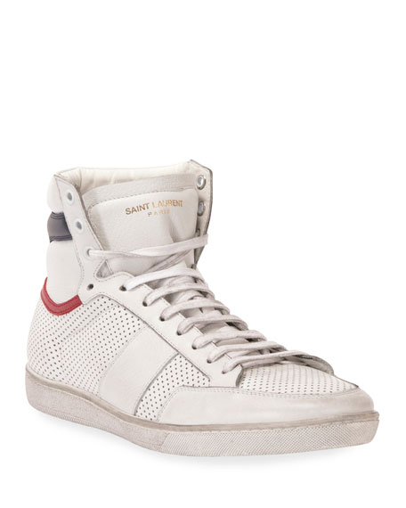 Image 1 of 3: Men's Leather High-Top Sneaker