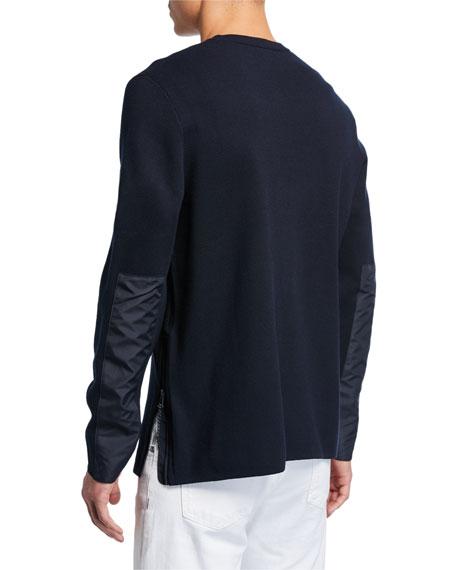 Michael Kors Crewneck Nylon Patch Side Zip Sweater