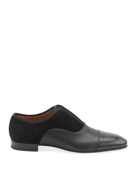 Image 2 of 2: Christian Louboutin Men's Alpha Male Laceless Suede Leather Slip-On
