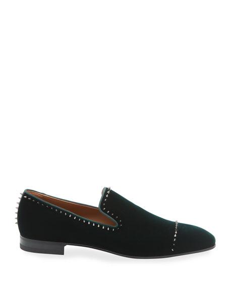 Christian Louboutin Men's Dandelion Velvet Mini-Spike Loafer