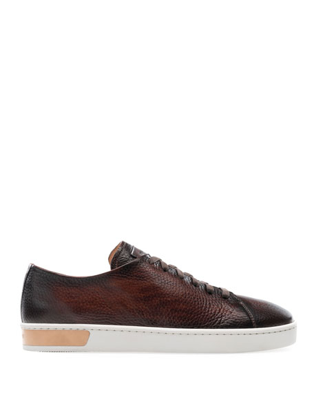 Magnanni Men's Catera Leather Low-Top Sneakers