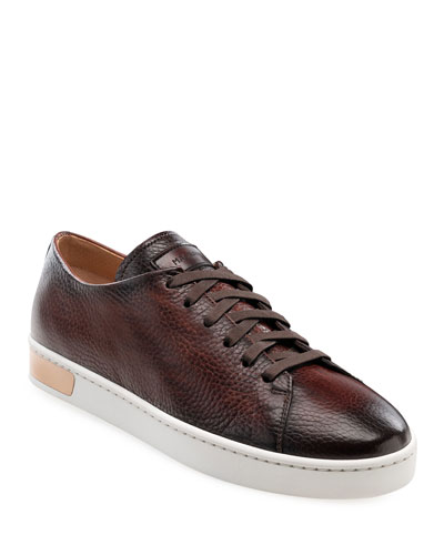 Men's Catera Leather Low-Top Sneakers