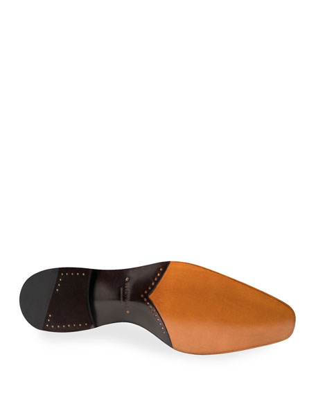 Magnanni Men's Camilo Wind-Seamed Leather Dress Shoes