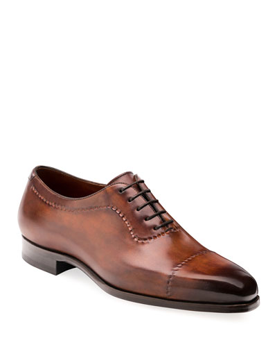 Men's Camilo Wind-Seamed Leather Dress Shoes