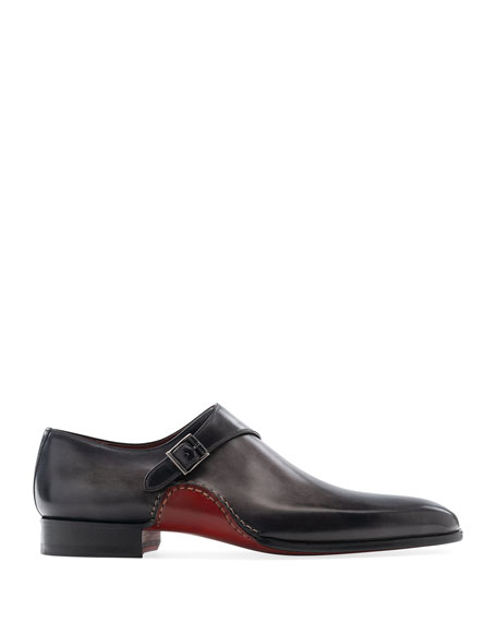 Image 2 of 3: Magnanni Men's Carrera Single-Monk Leather Shoes