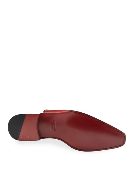 Image 3 of 3: Magnanni Men's Carrera Single-Monk Leather Shoes