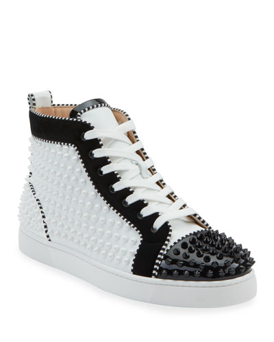Men's Louis Spikes 2 Leather High-Top Sneaker