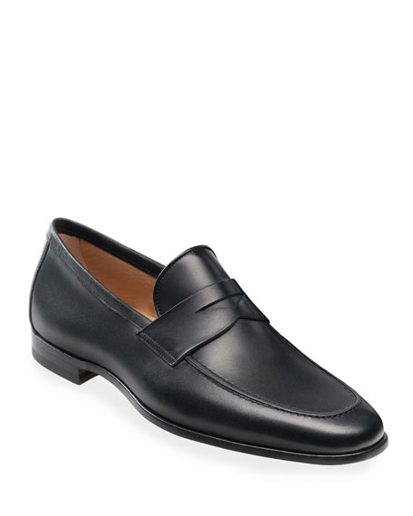Magnanni Men's Reed Flex Leather Penny Loafers