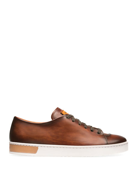 Magnanni Men's Bates Leather Low-Top Sneakers