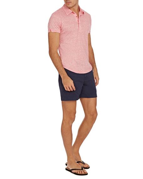 Orlebar Brown Sebastian Striped Linen Polo Shirt