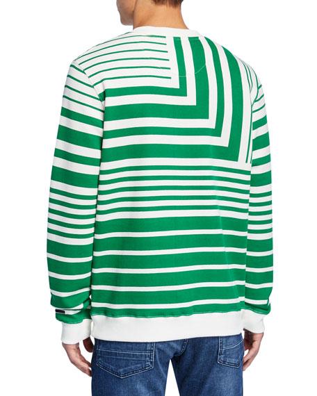 Scotch & Soda Men's Striped Crewneck Sweatshirt