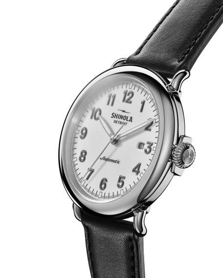Shinola Men's 45mm Runwell Automatic Watch, Black